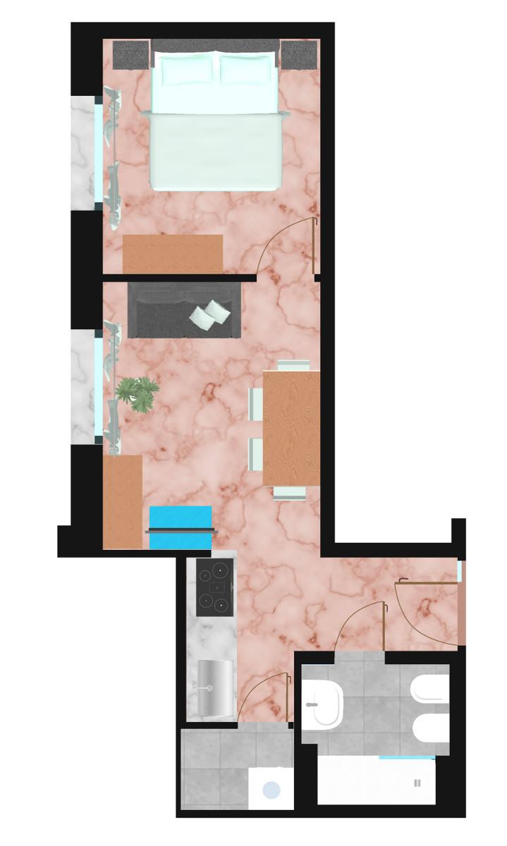 piantina-appartamento-i-colli | Ugo Bassi Apartments