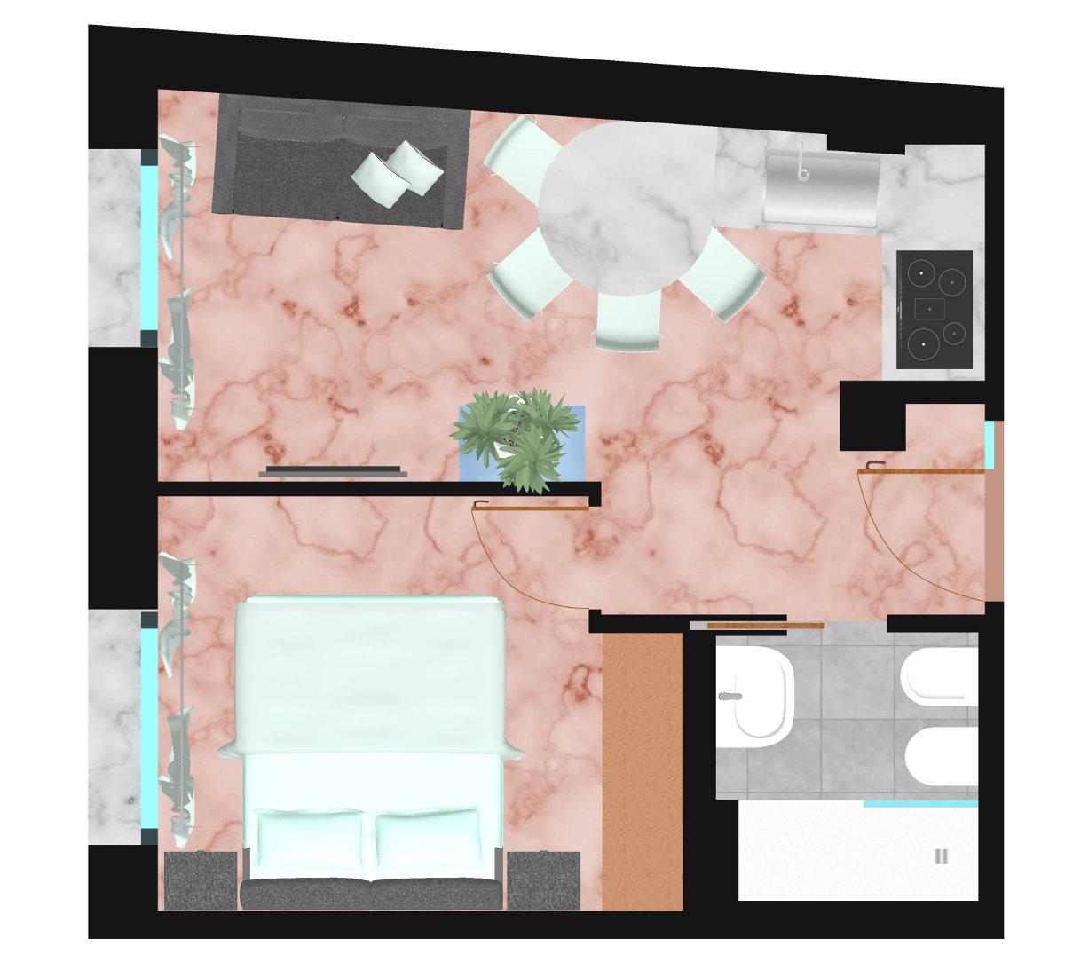 piantina-appartamento-i-tetti | Ugo Bassi Apartments
